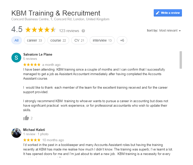kbm google reviews
